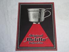 Original-Melitta Werbung Kaffeefilter