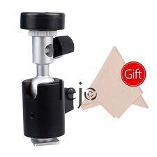 "360 Swivel Flash Hot Shoe Umbrella Holder Light Stand Bracket C Type 1/4"" 3/8"""