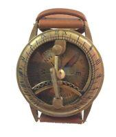 Marine Wrist Watch Type Sundial Antique Maritime Brass Steampunk Sundial Compass