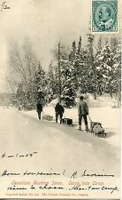 CP / POSTCARD / CANADA QUEBEC / CANADIAN HUNTING SCENE / GOING INTO CAMP