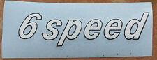 """Puch Jet Detrazione Adesivo Bianco """"6 speed"""" Assetto & Telaio e Moped- &"""