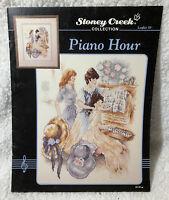 Piano Hour Cross Stitch Leaflet 59 Stoney Creek 1992 Victorian Music Pattern