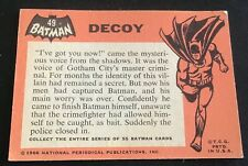 1966 Topps Batman Trading Card #49 Decoy