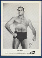 "LOU THESZ  1950's  WRESTLING DOW PICTURE 8-1/4"" X 11""  32271"