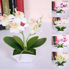 Artificial Flower Vase Real Touch Butterfly Orchid Leaves Plants Wedding Decor