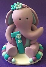 Edible 3D Baby Elephant  Holding a Number BABY SHOWER BIRTHDAY CAKE TOPPERS