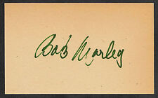 Bob Marley Autograph Reprint Appears Authentic On Old 1970s 3x5 card