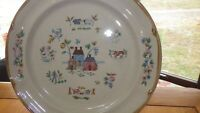 "International China Heartland 12"" round chop plate platter EUC mpn 7774 Japan"