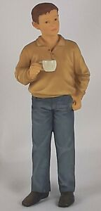 Dollhouse Miniature Resin Doll 1/12 Man with coffee Houseworks #33072  Russ