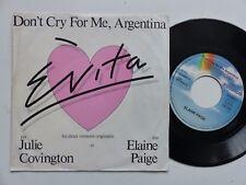 EVITA Don't cry for me Argentina JULIE COVINGTON ELAINE PAIGE 103333 France  RRR
