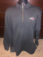 NHL Washington Capitals 1/4 Zip Pullover Sweater 2XL Gray Faux Fur Collar