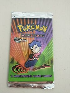 Pokemon Gym Challenge Unlimited Edition Booster Pack Unopened Unweighed Koga