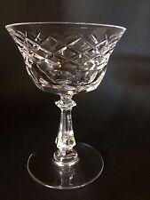 "Val St Lambert Champagne Martini Glass Tall Sherbet  ""VAS7"" 5.25''  Criss Cross"