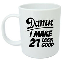 Damn 21 Mug, 21st Birthday gifts, presents, gift ideas for men, 21 year old