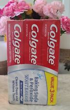 Colgate Baking Soda & Peroxide Whitening Toothpaste Brisk Mint/Clean Deep 3 Pack