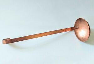 """Vintage Copper 10"""" Dipper Ladle Hand Hammered"""