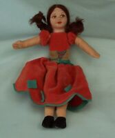 Norah Wellings Girl Doll Cloth Felt Vintage Toy England