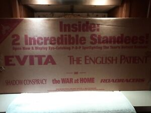 movie stand up display 5 in 1 Evita The English Patient Madonna