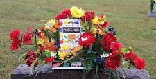Preschool Teacher Sympathy Memorial Grave Cemetery Tombstone Saddle Silk Flowers