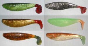 PROFI-BLINKER ATTRACTOR Mint-Grün Größe F 11,5 cm 4 Stück Gummifisch Shad !!!