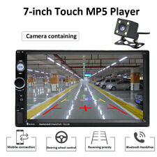 """7"""" HD 2 Din Car MP5 Player Bluetooth Touch Screen Stereo Radio���Rear Camera Kits"""