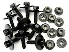 Chevy Body Bolts & Barbed Nuts- M6-1.0mm x 25mm Long- 10mm Hex- Qty.10 ea.- #390