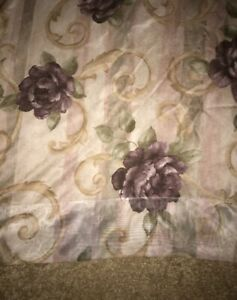CROSCILL CHAMBORD PURPLE AMETHYST ROSE SHEER WINDOW CURTAIN PANEL 60 x 84 IN
