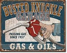 Panneau Métallique Busted Knuckle Garage Gas & Oils (de)