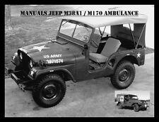 Jeep, Willy's m38a1, manuales, instrucciones de reparación, m170 Ambulance, maintenance, Willy's