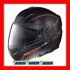 """CASCO NOLAN N104 STORM N-COM  NERO FLAT  Taglia """"L"""" Colore 35"""