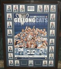 GEELONG 2007 Premiership Tribute Poster and Premiership select card set *Signed*