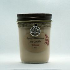 8 oz. Tobacco Hand Poured Natural Soy Wax Cotton Wick Cream Candle