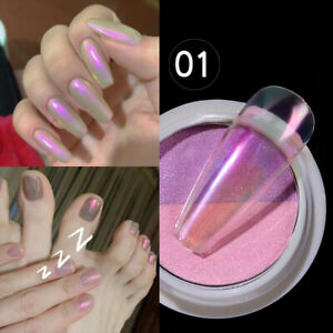 Holographic Mirror Nail Art Powder DIY Aurora Pigment Powder Dust Manicure Tips