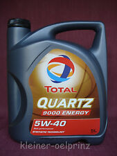 5 ltr. TOTAL Quartz 9000 Energy 5W-40 Motrenöl BMW LL-01/ Mercedes MB 229.5
