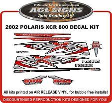 2002 POLARIS INDY XCR 800 Hood Decal Kit   Reproductions