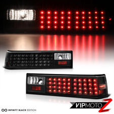 1988-1993 Ford Mustang Coupe Convertible Black LED Rear Brake Signal Tail Lights