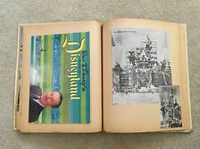 1960s Western US Vacation Scrapbook With Guide To Disneyland, Las Vegas Casinos