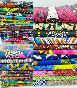 1Yard African Wax Cotton Print ANKARA Fabric Quilting Sewing Patchwork Crafting