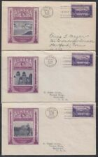 U.S., Alaska, 1937. First Day Covers 800, IOOR  Cachet (3)