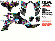 DFR SUBCULTURE GRAPHIC KIT ELECTRIC COLORS SIDES/FENDERS YAMAHA YFZ450 YFZ 450