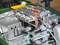 NEW Weber carbs set for 1/8 scale Revell Monogram E Type Jaguar car kit