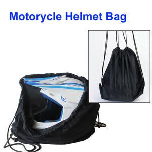 Universal Motorcycle Mountain Bike Helmet Lid Protect Bag Black Draw Helmets Bag