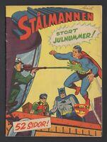 Superman - Stålmannen - DC Comics - 1958 Vintage Swedish Comic #Nr 25-26 VG