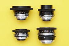 4 Vintage Zeiss Jena lenses set PL mount Arri  Arriflex F5 F55  URSA  C300