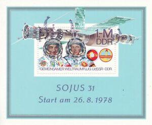 Block DDR Michel 53 postfrisch 'gemeinsamer Weltraumflug UdSSR - DDR'
