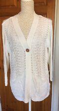 Ladies Cardigan White size 14 by Originals NWT