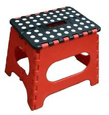Jeronic Super Strong Folding Step Stool for Adults and Kids, Red Kitchen