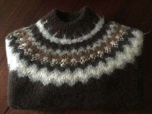 Rare Vintage POLO SPORT Ralph Lauren HAND KNIT Icelandic Nordic Wool Sweater XL