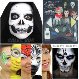 NEW FACE PAINT FAMILY MAKE UP KIT FOR HALLOWEEN PARTIES