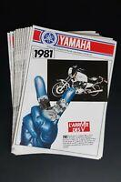 Prospectus catalogue brochure toute gamme moto Yamaha 1981 TR1 L'arrivée des V
